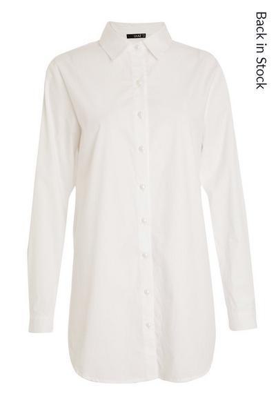 White Long Line Shirt